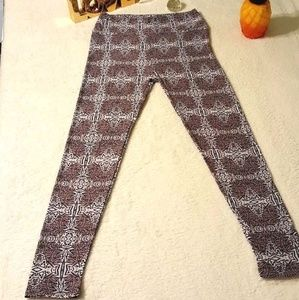 Lularoe OS Leggings Muted Dark Purple XX Pants